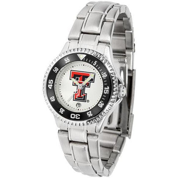 Texas Tech Red Raiders Ladies Competitor Steel Band Watch