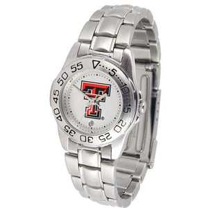Texas Tech Red Raiders Ladies Steel Band Sports Watch-Watch-Suntime-Top Notch Gift Shop
