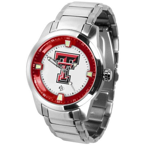Texas Tech Red Raiders Men's Titan Stainless Steel Band Watch-Watch-Suntime-Top Notch Gift Shop