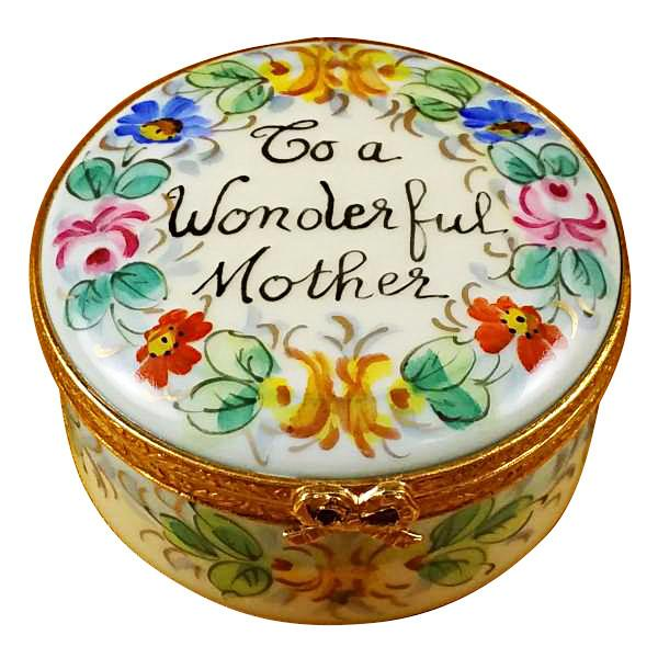 "Rochard ""To A Wonderful Mother"" Limoges Box by Rochard™-Rochard-Top Notch Gift Shop"