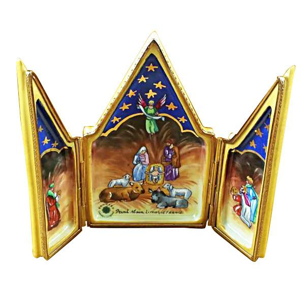 Triptych - Nativity Limoges Box by Rochard™-Limoges Box-Rochard-Top Notch Gift Shop