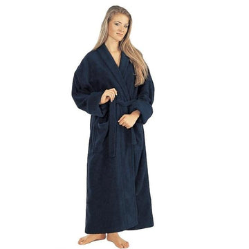 Women's Turkish Terrycloth Full Length Bathrobe