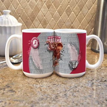 "University of Alabama ""Mascot"" Mug -  (Set of 2)"