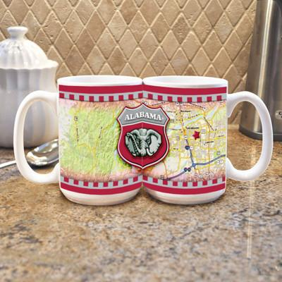 "University of Alabama ""Road To"" Mug - (Set of 2)-Mug-Memory Company-Top Notch Gift Shop"