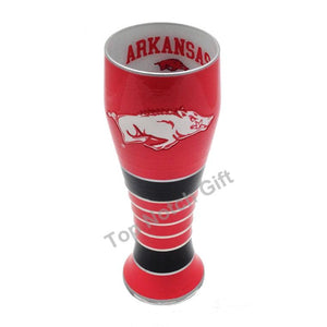 University of Arkansas Artisan Hand Painted Pilsner Glass-Pilsner Glass-Boelter Brands-Top Notch Gift Shop