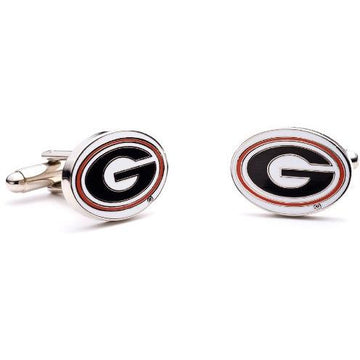 University of Georgia Bulldogs  Enamel  Cufflinks