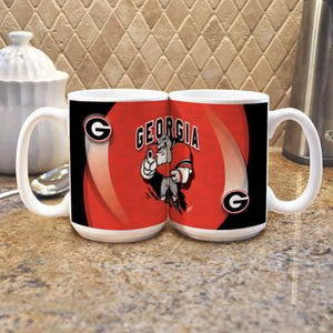 "University of Georgia ""Mascot"" Mug - (Set of 2)-Mug-Memory Company-Top Notch Gift Shop"