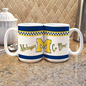 "University of Michigan ""Gameday"" Mug - (Set of 2)-Mug-Memory Company-Top Notch Gift Shop"