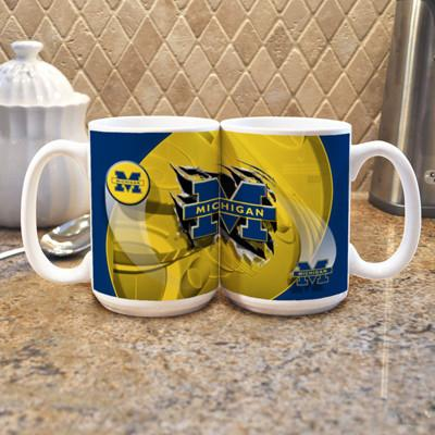 "University of Michigan ""Mascot"" Mug - (Set of 2)-Mug-Memory Company-Top Notch Gift Shop"