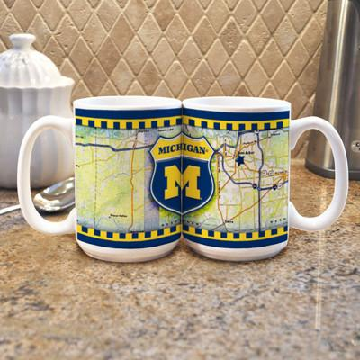 "University of Michigan ""Road To"" Mug - (Set of 2)-Mug-Memory Company-Top Notch Gift Shop"