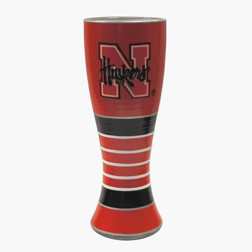 University of Nebraska Artisan Hand Painted Pilsner Glass