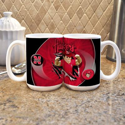 "University of Nebraska ""Mascot"" Mug - (Set of 2)-Mug-Memory Company-Top Notch Gift Shop"