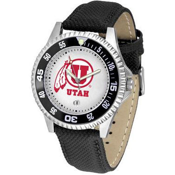 Utah Utes Competitor - Poly/Leather Band Watch