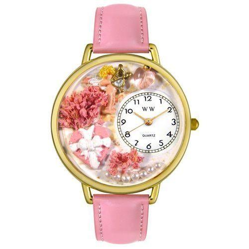 Valentine's Day Watch (Pink) in Gold (Large)-Watch-Whimsical Gifts-Top Notch Gift Shop