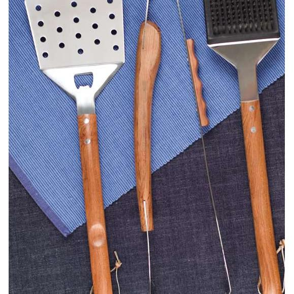 Vineyard 3 Piece Rosewood BBQ Tool Set-Barbeque Tool-Companion Group-Top Notch Gift Shop