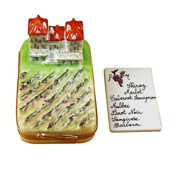 Vineyard With Wine List Limoges Box by Rochard™-Limoges Box-Rochard-Top Notch Gift Shop