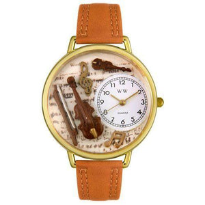 Violin Watch in Gold (Large)-Watch-Whimsical Gifts-Top Notch Gift Shop