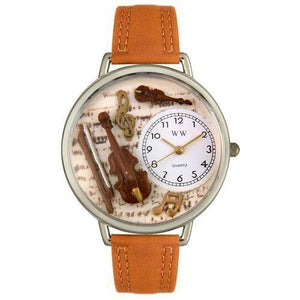 Violin Watch in Silver (Large)-Watch-Whimsical Gifts-Top Notch Gift Shop