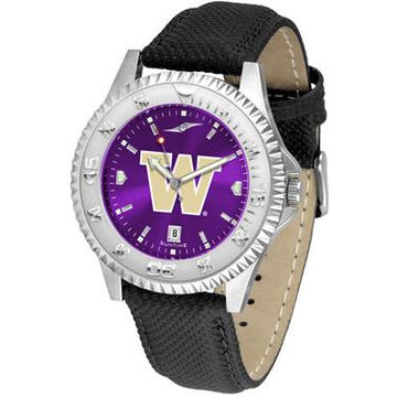 Washington Huskies Competitor AnoChrome - Poly/Leather Band Watch
