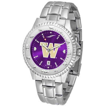 Washington Huskies Competitor AnoChrome - Steel Band Watch