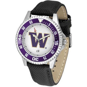Washington Huskies Competitor - Poly/Leather Band Watch-Watch-Suntime-Top Notch Gift Shop