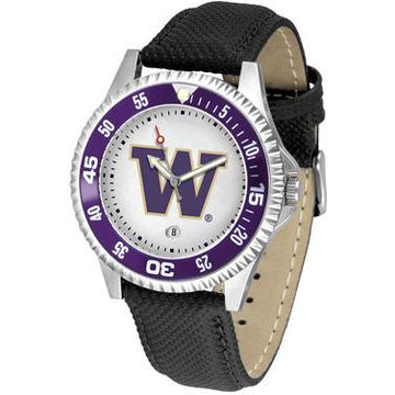 Washington Huskies Competitor - Poly/Leather Band Watch