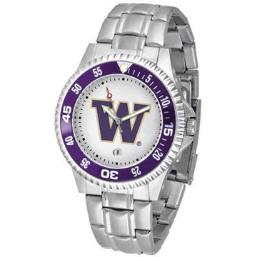 Washington Huskies Competitor  - Steel Band Watch