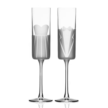 Wedding Cheers Formal Toasting Glasses | Gift Box Set of 2