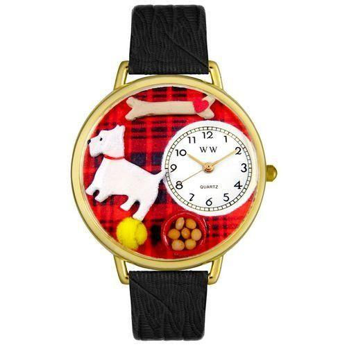 Westie Watch in Gold (Large)-Watch-Whimsical Gifts-Top Notch Gift Shop
