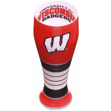 Wisconsin Badgers  Artisan Hand Painted Pilsner Glass
