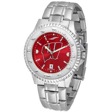 Wisconsin Badgers Competitor AnoChrome - Steel Band Watch