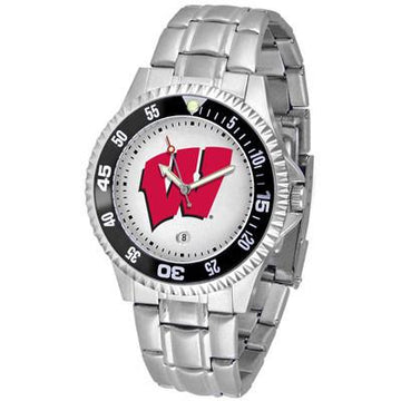 Wisconsin Badgers Competitor  - Steel Band Watch