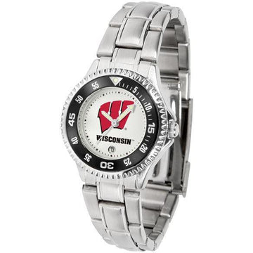 Wisconsin Badgers Ladies Competitor Steel Band Watch