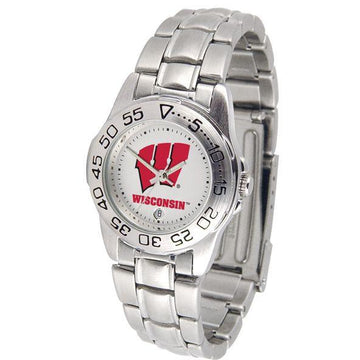 Wisconsin Badgers Ladies Steel Band Sports Watch