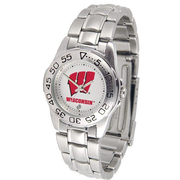 Wisconsin Badgers Ladies Steel Band Sports Watch-Watch-Suntime-Top Notch Gift Shop
