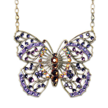 Butterfly Necklace - Large Openwork Purple