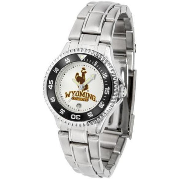 Wyoming Cowboys Ladies Competitor Steel Band Watch