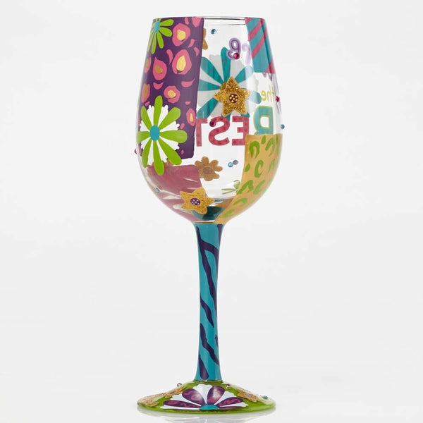 You're the Best Wine Glass by Lolita®-Wine Glass-Designs by Lolita® (Enesco)-Top Notch Gift Shop