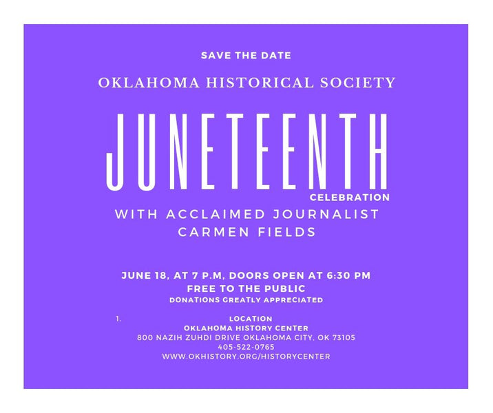 Press Release - Upcoming Juneteenth event at the Oklahoma History Center