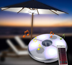 LED Umbrella Light & Bluetooth Speakers
