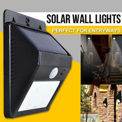 Wall-Mount Motion Sensor Solar Lights