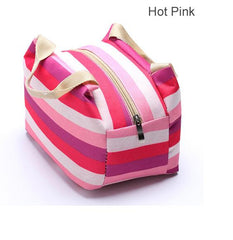 Striped Thermal Insulated Lunch Bags