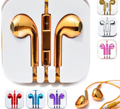 Chrome Metallic Earbuds