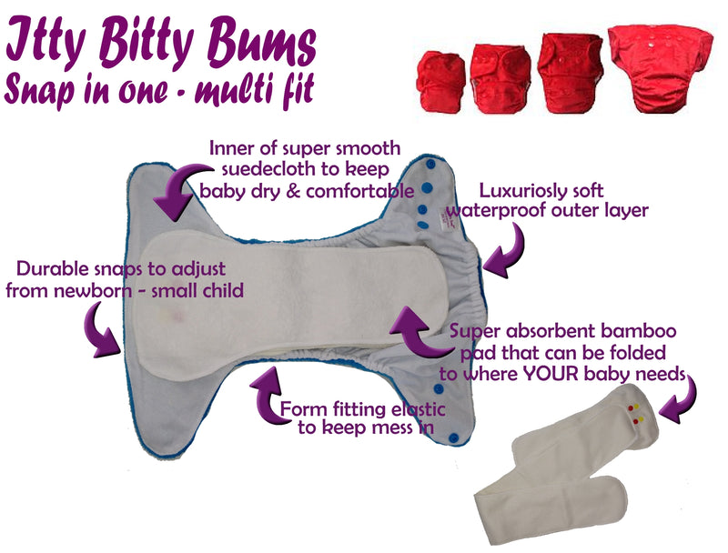 BIRTH - POTTY PACK snap in one multi fit