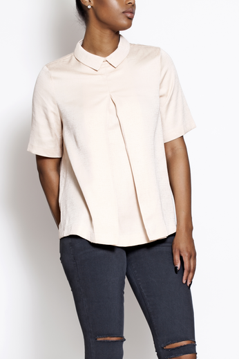 Blush Collared Blouse