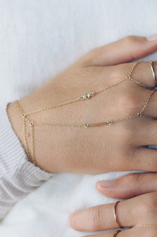 14K Gold Filled Handchain