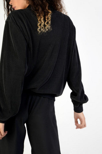 Black Rib Bomber Jacket