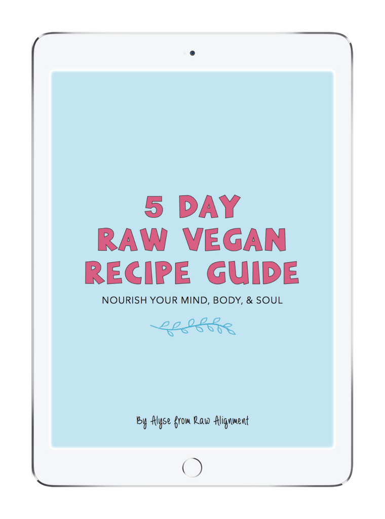 5 Day Raw Vegan Recipe Guide