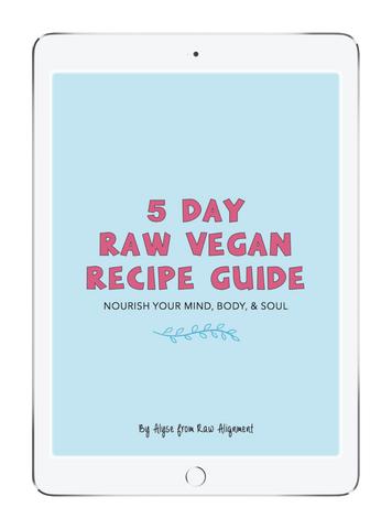 Raw Alignment 5 Day Raw Vegan Recipe Guide Front Cover