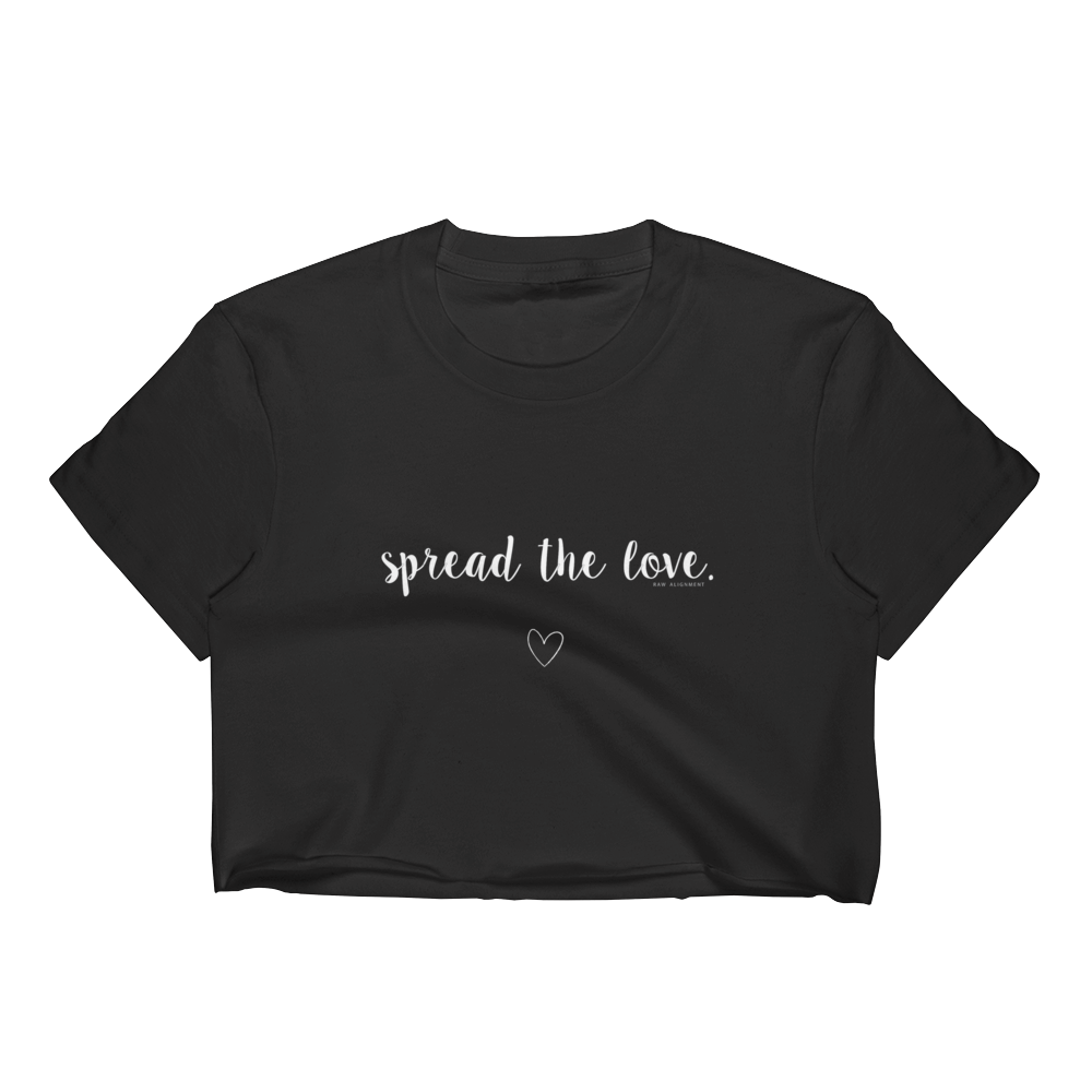 Spread The Love Crop Top - Black